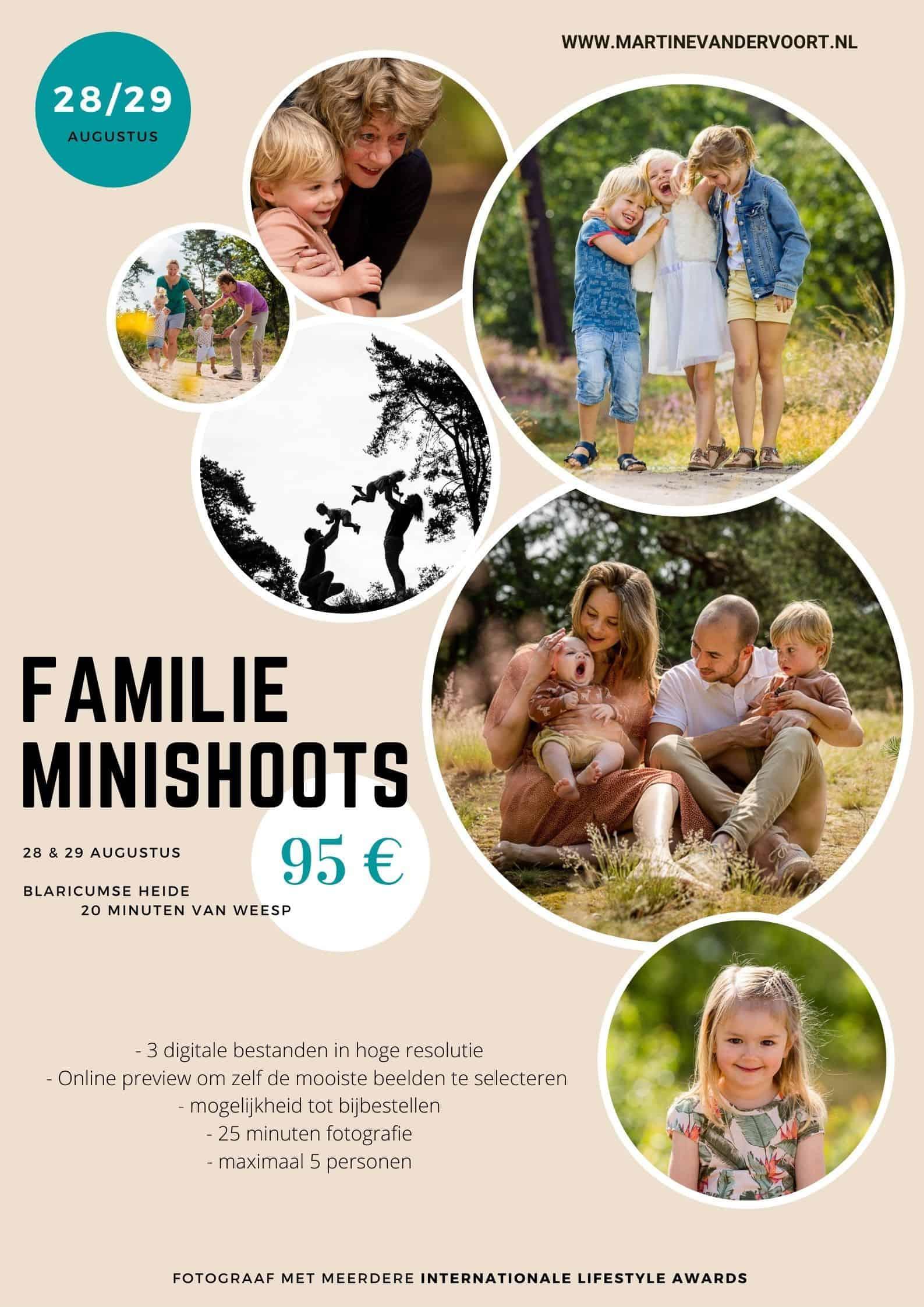 Minishoot familiereportage op de hei in Blaricum, Martine van der Voort Fotografie