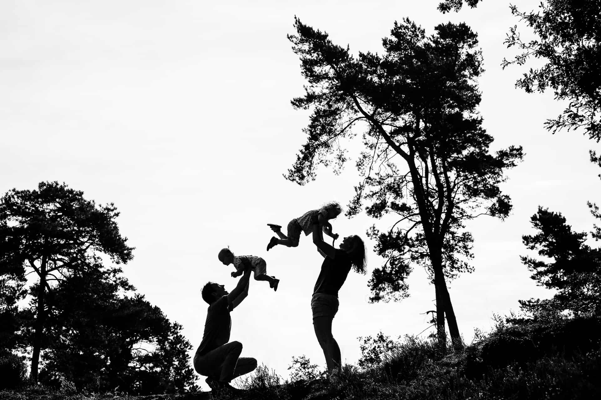 Familiereportage op de hei Martine van der Voort Fotografie